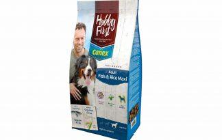 HobbyFirst Canex Adult Fish & Rice Maxi is een geëxtrudeerde hondenvoeding voor volwassen honden van grote rassen. Fish & Rice Maxi is tevens een zeer licht verteerbare, volledige en uitgebalanceerde voeding voor volwassen honden van grote rassen, die aanleg hebben voor spijsverteringsproblemen en/of een gevoelige huid en vacht.