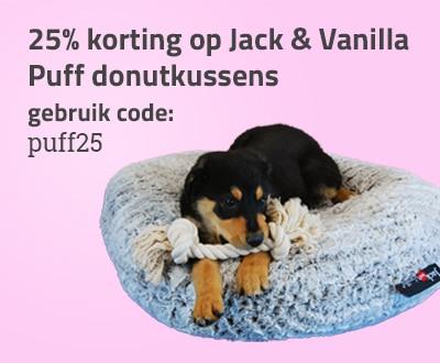Jack and Vanilla Puff donutkussen 25% korting