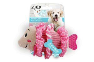 AFP Little Buddy Crinkly hondenknuffels - Lelesea roze
