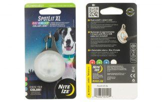 Nite Ize SpotLit LED XL Oplaadbaar halsbandlicht Disc-O select