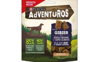 De Purina Adventuros Hertsmaak snack bevat geen toegevoegde kunstmatige kleurstoffen. Een lekkere tussendoortje voor uw hond! De snack heeft een hertsmaak en is daarnaast voorzien van oergraan en superfoods.