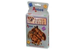 De Antos Paas-snack is een heerlijk tussendoortje voor uw hond met een kipsmaak. De snack is gemaakt van 100% natuurlijke producten. Geschikt voor puppy's, als beloningssnack tijdens een training, of gewoon omdat het lekker is!