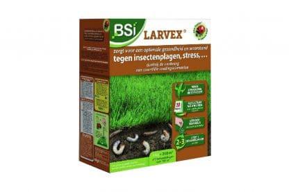 BSI Larvex zorgt voor optimale gezondheid en weerstand van uw gazon tegen insectenplagen. Speciale voedingsstoffen zorgen ervoor dat onder andere engerlingen, emelten en andere bodeminsecten geen kans maken.
