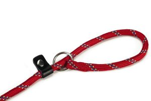 Beeztees ronde nylon sliplijn - rood 8 mm