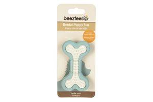Beeztees rubber dental bot Puppy blauw