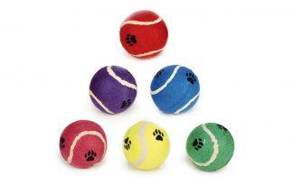 Beeztees tennisbal met pootafdruk