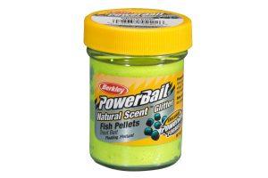 Berkley PowerBait Natural Scent fish pellet chartreuse