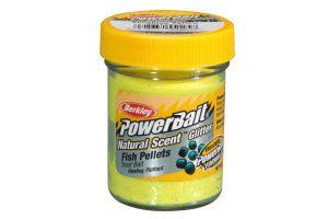 Berkley PowerBait Natural Scent fish pellet sunshine yellow