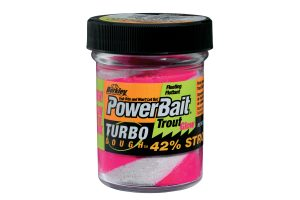 Berkley PowerBait Turbo Dough Glow roze-wit