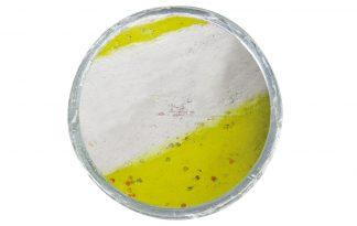 Berkley PowerBait Turbo Dough Glow geel-wit