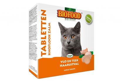 Biofood kat tabletten knoflook zalm - 100st