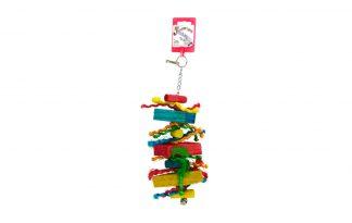 Birrdeeez Vogelspeelgoed hout met touwtjes