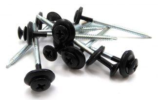 Bitumen golfplaat schroeven zwart
