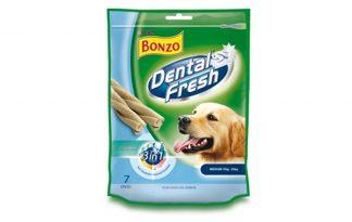 Bonzo Dental Fresh 3 in 1 zijn dentalsticks voor uw hond.