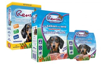 Renske gestoomde maaltijden hond