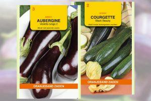 Aubergine en courgette zaden