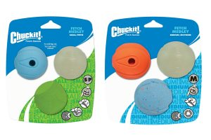 Chuckit Fetch Medley Medium Small 3-Pack