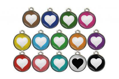 Dierenpenning hart chroom-effect