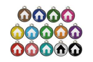 Dierenpenning huis chroom-effect