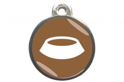 Dierenpenning voerbak classic bruin