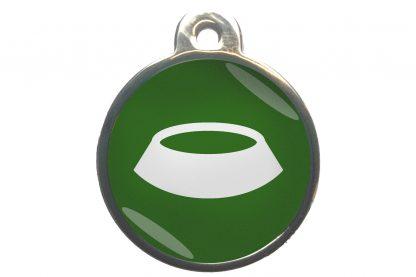 De dierenpenning voerbak chroom-effect is een luxe custom made penning gemaakt van hoogwaardig materiaal.