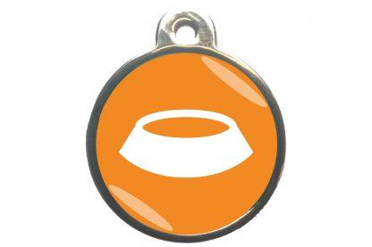 Dierenpenning voerbak classic oranje