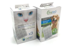 Dog & Cat H2O waterfontein vervangingsfilter 3-pack