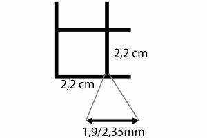 Draadmat zwart - 200x100 cm - 22x22x1,9/2,35mm