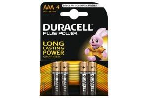 Duracell AAA 1,5 Volt batterij 4st