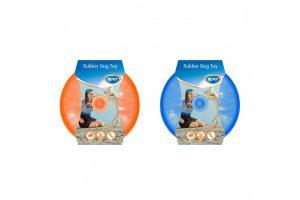 Duvo+ flash frisbee TRP Rubber blauw en oranje