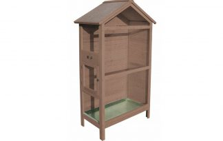 Duvo Houten voliere Acacia Cottage taupe