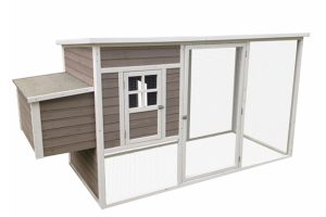 Duvo Woodland kippenhok Molly Cottage met ren