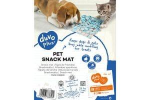De Duvo+ snack snuffelmat daagt uw huisdier uit om op zoek te gaan naar lekkere snacks. Snuffelen en zoeken stimuleert het natuurlijke gedrag.