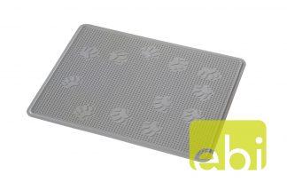 EBI kattenbak mat grey rubber.
