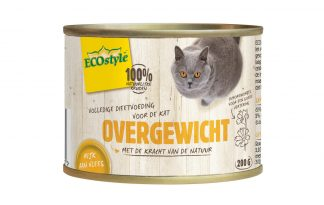 ECOstyle OVERGEWICHT dieetvoeding kat blik