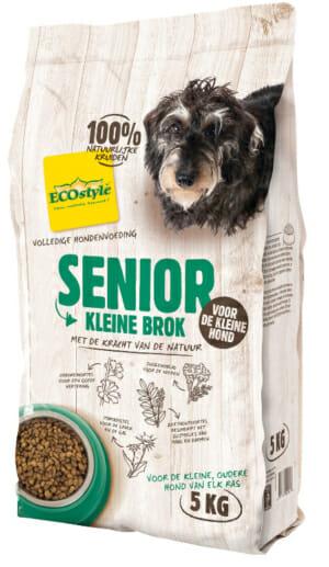 ECOstyle SENIOR kleine brok hondenvoeding is een complete voeding, alles zit er in wat de oudere hond nodig heeft. Met de kracht van de natuur!