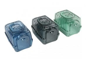 EBI Touring 15 - Serene Edition is een vervoersbox voor knaagdieren, voorzien van vele ventilatieopeningen en een doorzichtige deksel.