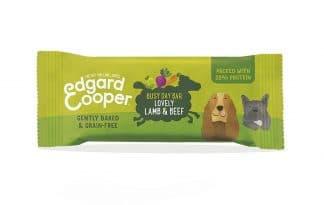 Edgard Cooper energiereep voor honden lam en rund wortel appel en rode biet