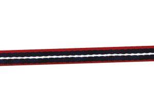 Ekkia halster marine blauw rood zacht polyester