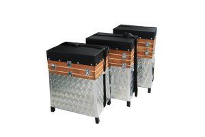 Eureka zitkoffer aluminium met hout