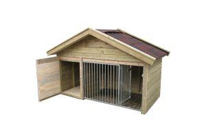Laag model hondenkennel Exclusief - geopend