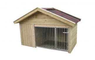Laag model hondenkennel Exclusief - totale kennel