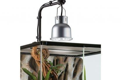 De Exo Terra Lampenhouder + bevestigingssteun Nano Ø10cm is een stevig, stijlvol en compact.