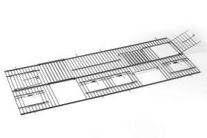 Zwarte voorfronten 30 cm hoog met klepjes, deur en nestkastdeur