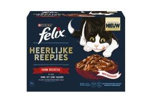 Felix heerlijke reepjes zijn malse reepjes in een onweerstaanbare jus.