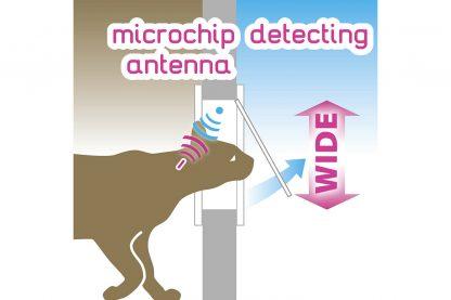 Ferplast Swing Microchip Large kattenluik wit