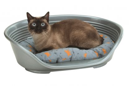Ferplast Siesta Deluxe kunststof mand met kat