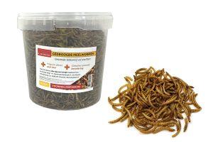 Gedroogde meelwormen voordeelemmer 2,5 liter