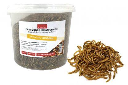 Gedroogde meelwormen voordeelemmer 5 liter