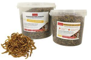 Gedroogde meelwormen voordeelemmer